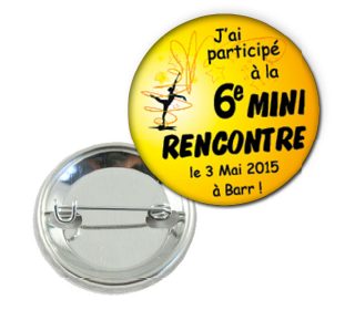 Badge personnalise twirling club barr fil et graff 1