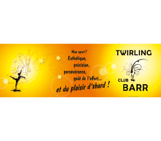Twirling club barr bache 180 x 60 cm