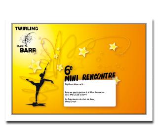 Twirling club barr diplome petites quantites a5