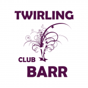 Twirling club barr logo