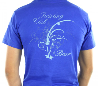 Twirling club barr t shirt personnalise dos
